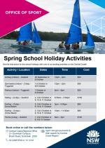 Spring School Holiday Activities