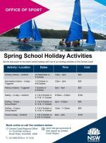 Spring School Holiday Activities..