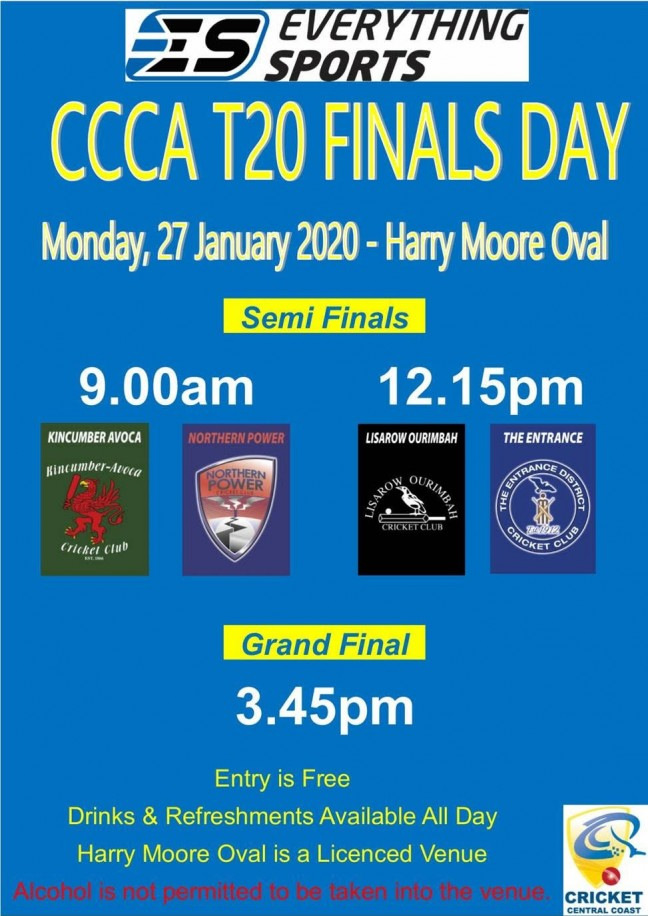 Central Coast Cricket - T20 Finals Day Preview